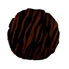 Skin3 Black Marble & Brown Wood Standard 15  Premium Round Cushion  by trendistuff