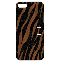 Skin3 Black Marble & Brown Wood Apple Iphone 5 Hardshell Case With Stand by trendistuff