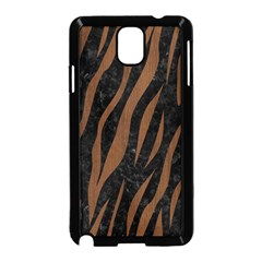 Skin3 Black Marble & Brown Wood Samsung Galaxy Note 3 Neo Hardshell Case (black) by trendistuff