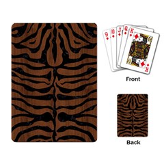 Skin2 Black Marble & Brown Wood (r) Playing Cards Single Design