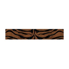 Skin2 Black Marble & Brown Wood (r) Flano Scarf (mini) by trendistuff