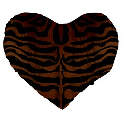 Skin2 Black Marble & Brown Wood Large 19  Premium Heart Shape Cushion by trendistuff