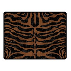 Skin2 Black Marble & Brown Wood Double Sided Fleece Blanket (small) by trendistuff