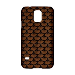Scales3 Black Marble & Brown Wood (r) Samsung Galaxy S5 Hardshell Case  by trendistuff