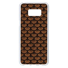 Scales3 Black Marble & Brown Wood (r) Samsung Galaxy S8 Plus White Seamless Case by trendistuff
