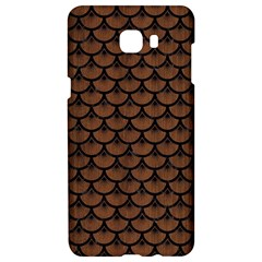 Scales3 Black Marble & Brown Wood (r) Samsung C9 Pro Hardshell Case