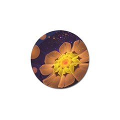 Beautiful Violet & Peach Primrose Fractal Flowers Golf Ball Marker (4 Pack) by jayaprime