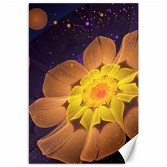 Beautiful Violet & Peach Primrose Fractal Flowers Canvas 12  X 18   by jayaprime