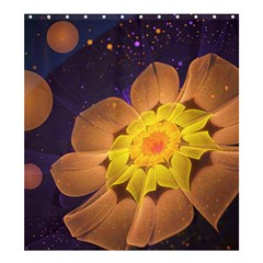 Beautiful Violet & Peach Primrose Fractal Flowers Shower Curtain 66  X 72  (large)  by jayaprime