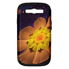 Beautiful Violet & Peach Primrose Fractal Flowers Samsung Galaxy S Iii Hardshell Case (pc+silicone) by jayaprime