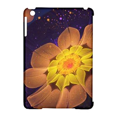 Beautiful Violet & Peach Primrose Fractal Flowers Apple Ipad Mini Hardshell Case (compatible With Smart Cover) by jayaprime