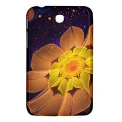 Beautiful Violet & Peach Primrose Fractal Flowers Samsung Galaxy Tab 3 (7 ) P3200 Hardshell Case  by jayaprime