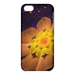 Beautiful Violet & Peach Primrose Fractal Flowers Apple Iphone 5c Hardshell Case by jayaprime