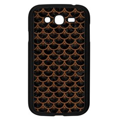 Scales3 Black Marble & Brown Wood Samsung Galaxy Grand Duos I9082 Case (black) by trendistuff