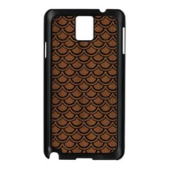 Scales2 Black Marble & Brown Wood (r) Samsung Galaxy Note 3 N9005 Case (black) by trendistuff