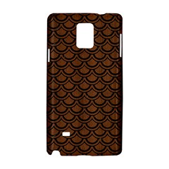 Scales2 Black Marble & Brown Wood (r) Samsung Galaxy Note 4 Hardshell Case by trendistuff