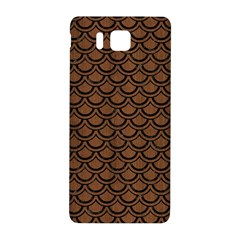Scales2 Black Marble & Brown Wood (r) Samsung Galaxy Alpha Hardshell Back Case by trendistuff