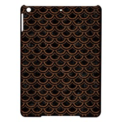 Scales2 Black Marble & Brown Wood Apple Ipad Air Hardshell Case by trendistuff