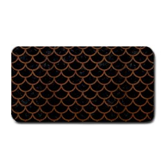 Scales1 Black Marble & Brown Wood Medium Bar Mat