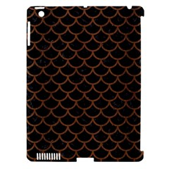 Scales1 Black Marble & Brown Wood Apple Ipad 3/4 Hardshell Case (compatible With Smart Cover) by trendistuff