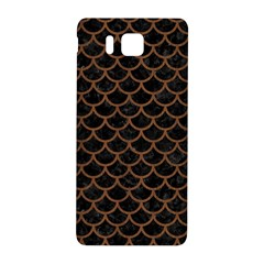 Scales1 Black Marble & Brown Wood Samsung Galaxy Alpha Hardshell Back Case by trendistuff