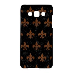 Royal1 Black Marble & Brown Wood (r) Samsung Galaxy A5 Hardshell Case  by trendistuff