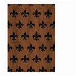 ROYAL1 BLACK MARBLE & BROWN WOOD Small Garden Flag (Two Sides) Back