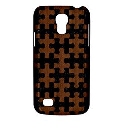 Puzzle1 Black Marble & Brown Wood Samsung Galaxy S4 Mini (gt I9190) Hardshell Case  by trendistuff