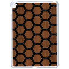 Hexagon2 Black Marble & Brown Wood (r) Apple Ipad Pro 9 7   White Seamless Case by trendistuff