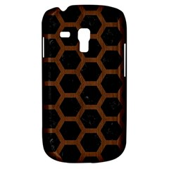 Hexagon2 Black Marble & Brown Wood Samsung Galaxy S3 Mini I8190 Hardshell Case by trendistuff