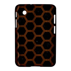 Hexagon2 Black Marble & Brown Wood Samsung Galaxy Tab 2 (7 ) P3100 Hardshell Case  by trendistuff