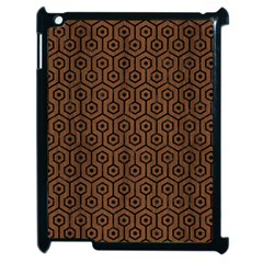 Hexagon1 Black Marble & Brown Wood (r) Apple Ipad 2 Case (black) by trendistuff