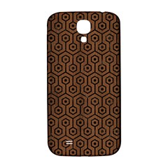 Hexagon1 Black Marble & Brown Wood (r) Samsung Galaxy S4 I9500/i9505  Hardshell Back Case by trendistuff