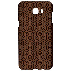 Hexagon1 Black Marble & Brown Wood (r) Samsung C9 Pro Hardshell Case  by trendistuff