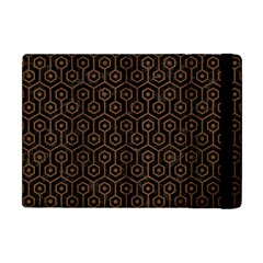 Hexagon1 Black Marble & Brown Wood Apple Ipad Mini Flip Case by trendistuff
