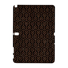 Hexagon1 Black Marble & Brown Wood Samsung Galaxy Note 10 1 (p600) Hardshell Case by trendistuff