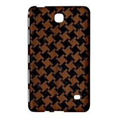 Houndstooth2 Black Marble & Brown Wood Samsung Galaxy Tab 4 (7 ) Hardshell Case  by trendistuff