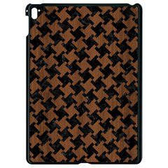 Houndstooth2 Black Marble & Brown Wood Apple Ipad Pro 9 7   Black Seamless Case