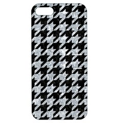 Houndstooth1 Black Marble & Brown Wood Apple Iphone 5 Hardshell Case With Stand by trendistuff