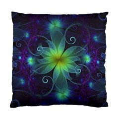 Blue And Green Fractal Flower Of A Stargazer Lily Standard Cushion Case (two Sides) by jayaprime