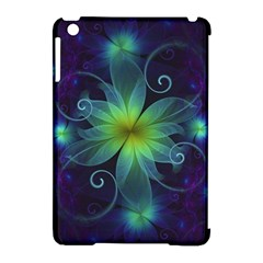 Blue And Green Fractal Flower Of A Stargazer Lily Apple Ipad Mini Hardshell Case (compatible With Smart Cover) by jayaprime