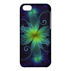 Blue And Green Fractal Flower Of A Stargazer Lily Apple Iphone 5c Hardshell Case by jayaprime