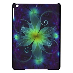 Blue And Green Fractal Flower Of A Stargazer Lily Ipad Air Hardshell Cases by jayaprime