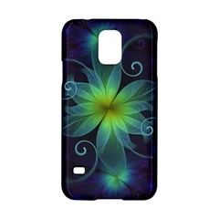 Blue And Green Fractal Flower Of A Stargazer Lily Samsung Galaxy S5 Hardshell Case  by jayaprime