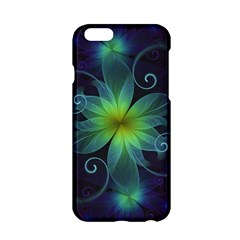 Blue And Green Fractal Flower Of A Stargazer Lily Apple Iphone 6/6s Hardshell Case by jayaprime