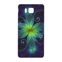 Blue And Green Fractal Flower Of A Stargazer Lily Samsung Galaxy Alpha Hardshell Back Case by jayaprime