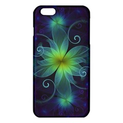 Blue And Green Fractal Flower Of A Stargazer Lily Iphone 6 Plus/6s Plus Tpu Case by jayaprime