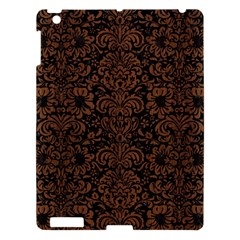 Damask2 Black Marble & Brown Wood Apple Ipad 3/4 Hardshell Case by trendistuff