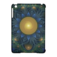 Beautiful Orange & Blue Fractal Sunflower Of Egypt Apple Ipad Mini Hardshell Case (compatible With Smart Cover) by jayaprime
