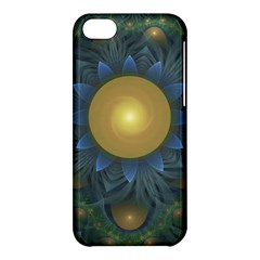 Beautiful Orange & Blue Fractal Sunflower Of Egypt Apple Iphone 5c Hardshell Case by jayaprime